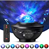 Night Light Projector with Remote Control, Eicaus 2 in 1 Star Projector with LED Nebula Cloud/Moving Ocean Wave…