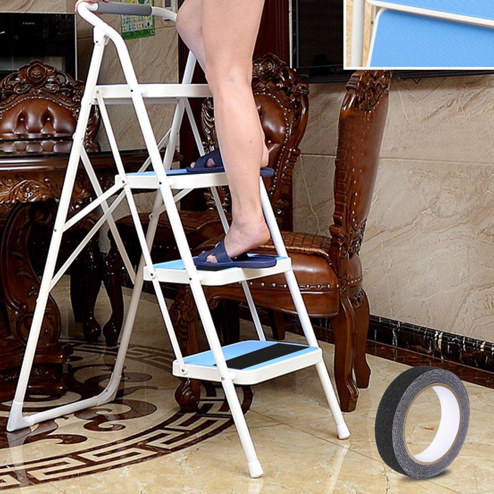 Selbstklebende Streifen Premium Rutschfest Selbstklebende Streifen in Top-Qualit/ät Trittleiter-Schleifenband Sicherheit Selbstklebend f/ür Rutschfeste Treppenstufen im Innen und Au/ßenbereich Schwarz