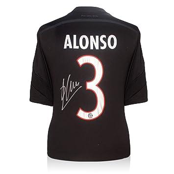 Firmado camiseta de fútbol Xabi Alonso Bayern Munich Negro