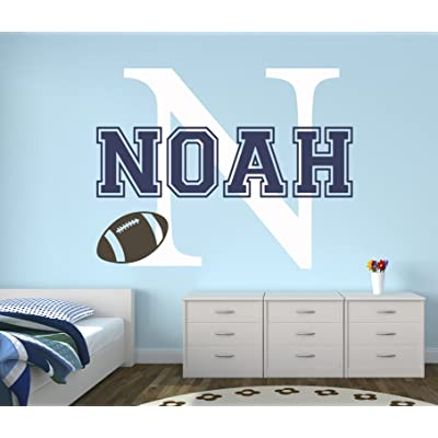 Custom Football Name Wall Decal - Baby Room Decor - Nursery Wall Decals - Sports Wall Decor Vinyl (30Wx22): Baby