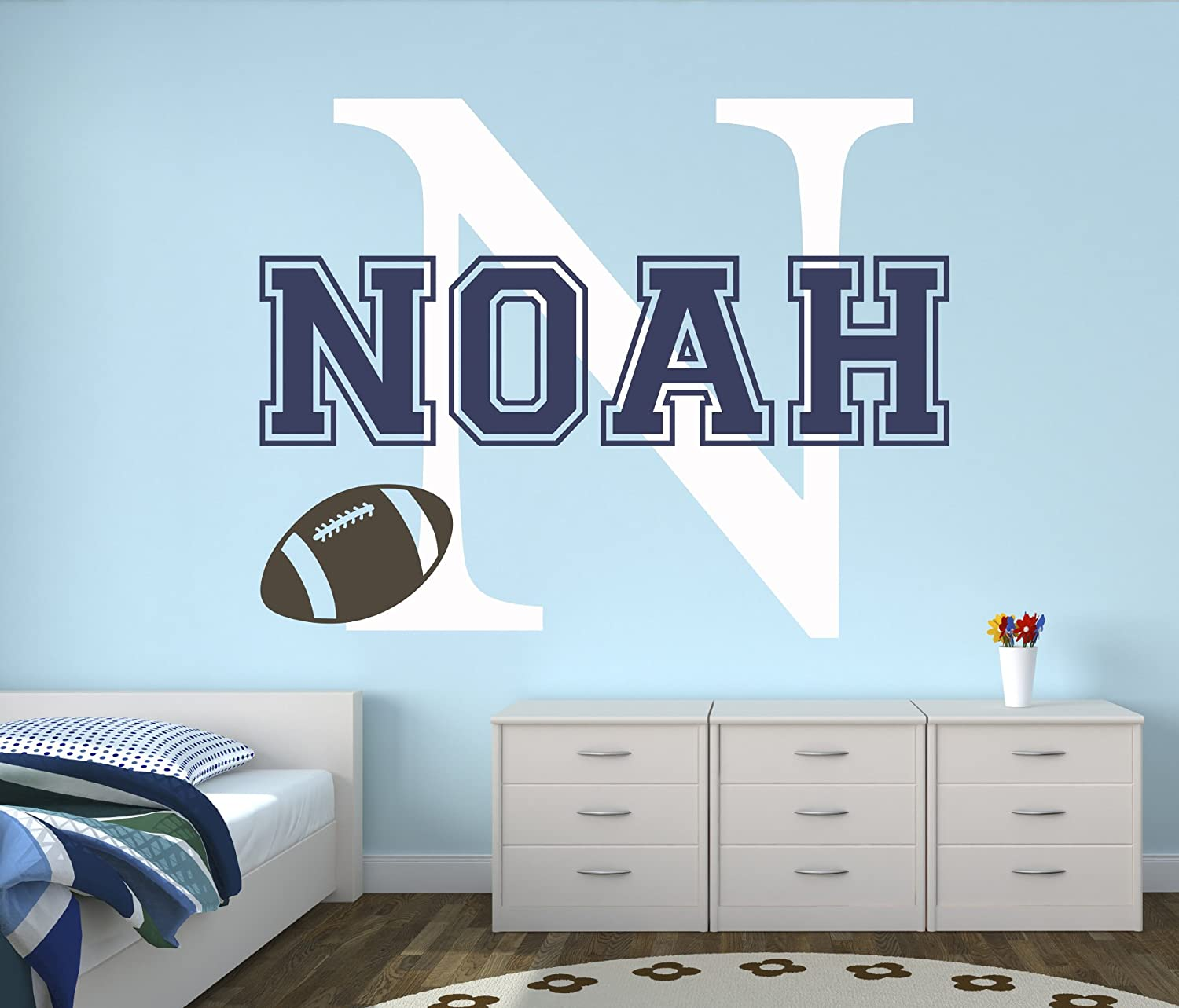 Custom Football Name Wall Decal - Baby Room Decor - Nursery Wall Decals -  Sports Wall...