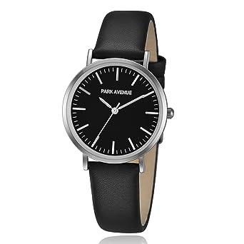 Damenuhren schwarz silber  PARK AVENUE Damenuhr - NOBLE - schwarz/silber: Amazon.de: Uhren