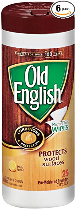 Old English Furniture Wipes, 25 Count Packages (Pack Of 6)
