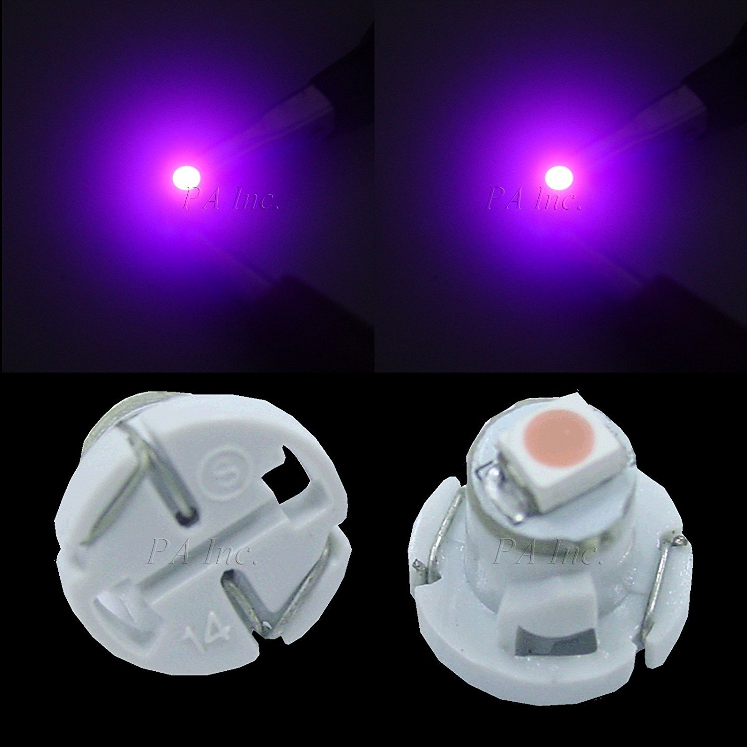 PA 20pcs T4.2 Car Dash Board Instrument LED Bulbs 5 color options 12v (White) Per-Accurate Inc. All brands after market