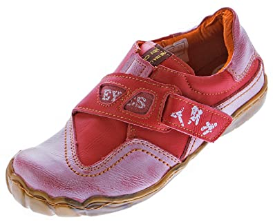 TMA Damen Leder Comfort Schuhe Eyes 1901 Halbschuhe Slipper Rot Turnschuhe  Sneakers Used Look Gr.