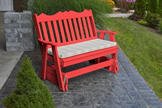 product image for Outdoor Poly 5 Foot Royal English Glider - Bright Red