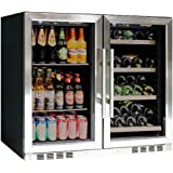 Kings Bottle KBU-28LR-SS 28 Bottle Wine 100 Can Beer Combo Cooler