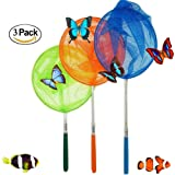 "3 Pack Telescopic Butterfly Net Catching Bugs Insect Extendable 34"" Inch for Kids by M-jump"