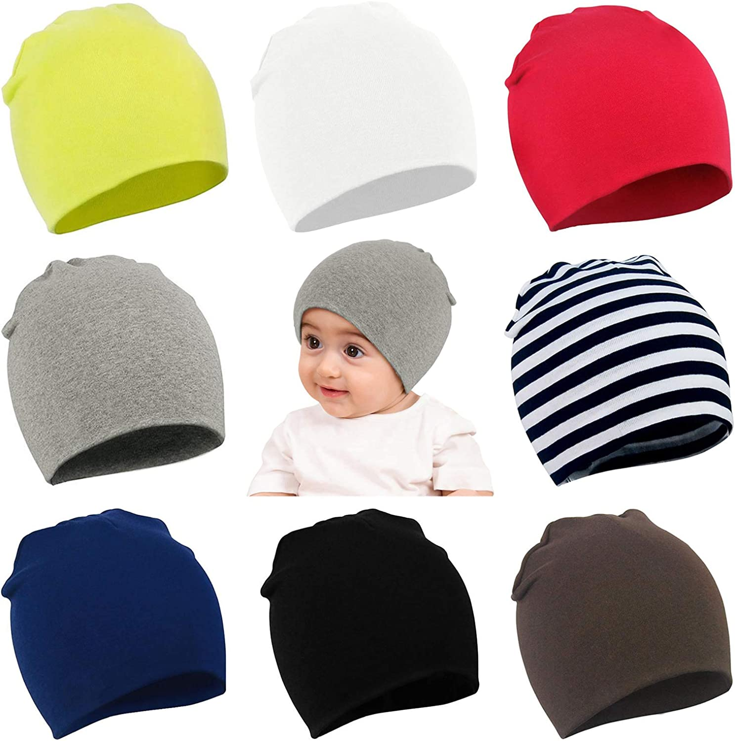 choice of 4 colours one size Baby Newborn Star Print Hat 100/% Cotton