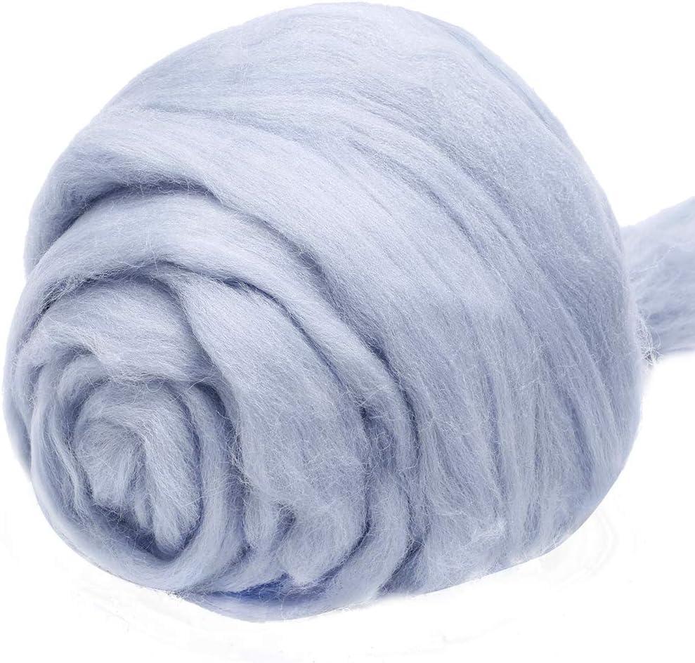 Fiber Roving Wool Top Spinning Wool Roving for Needle Felting Wet Felting DIY Hand Spinning Jupean 3.53oz Wool Roving Yarn 100/% Pure Wool Chunky Yarn Wool Felting Supplies