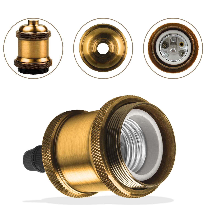 DiCUNO 10 Pack E27 Vintage Ampoule solide c/éramique douille Support de lampe Edison Vis Ampoule adaptateur Socket