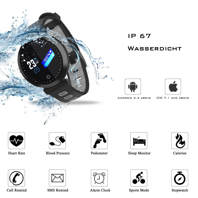 Mit Uhr Fitness Premewish Watch Pulsmesser smart Smartwatch kOPnw0