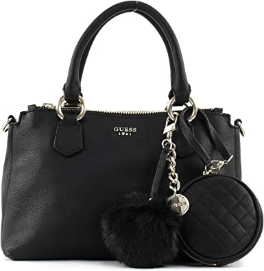 Guess Tenley small status shoulder bag black: : Bagages