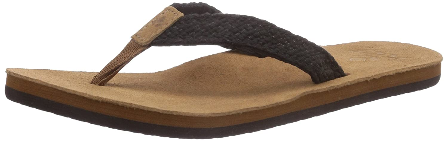 Amazoncom  Reef Womens Salty Air Flip Flop Black 6 M US  FlipFlops