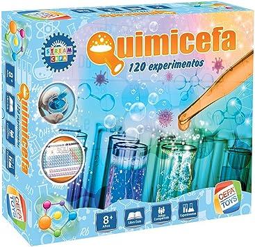 Cefa Toys Juego QUIMICEFA ¡con 120 EXPERIMENTOS, Multicolor (21840): Amazon.es: Juguetes y juegos