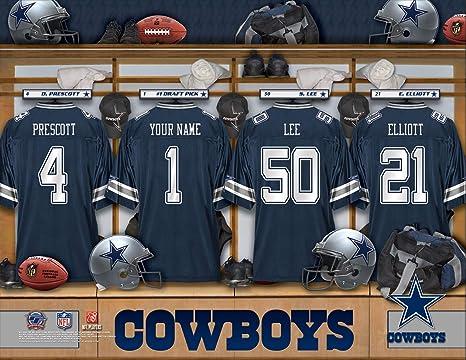 online store ff672 dcde8 Amazon.com : Personalized Dallas Cowboys Wall Poster, Locker ...