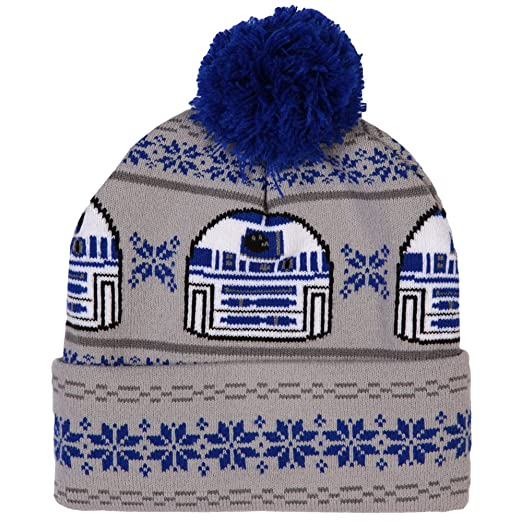 0489fc6dba9 Image Unavailable. Image not available for. Color  Star Wars R2-D2 Fair  Isle Cuff Pom Beanie