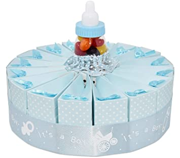 1 tier baby shower favor bags cake kit 2 pack includes 20 favor boxes blue boy
