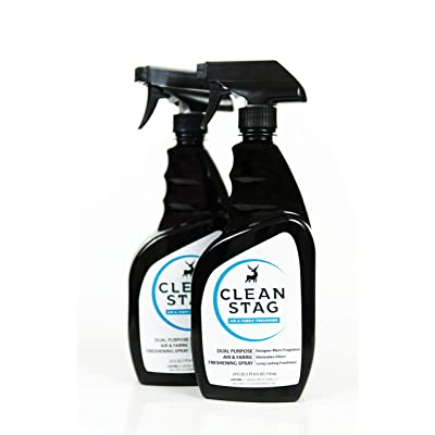 Clean Stag Men's Air & Fabric Freshener - New - Eliminates Odors - Men's Fragrance - Value Pack - Two (2) 24 oz Bottles: Health & Personal Care