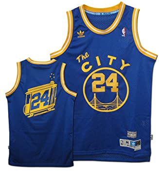 69ca708fd Rick Barry Jersey  adidas Blue Throwback Swingman  24 Golden State Warriors  Jersey - Blue