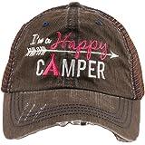 I'm A Happy Camper Women's Mesh Trucker Hat Cap by Katydid