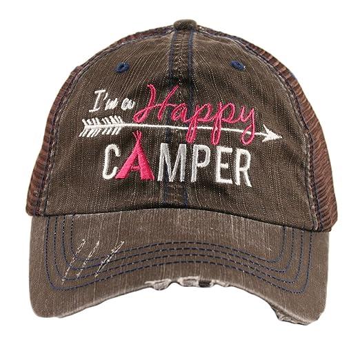 Amazon.com  I m A Happy Camper Women s Mesh Trucker Hat Cap by Katydid   Clothing 2eb44a7c15b9