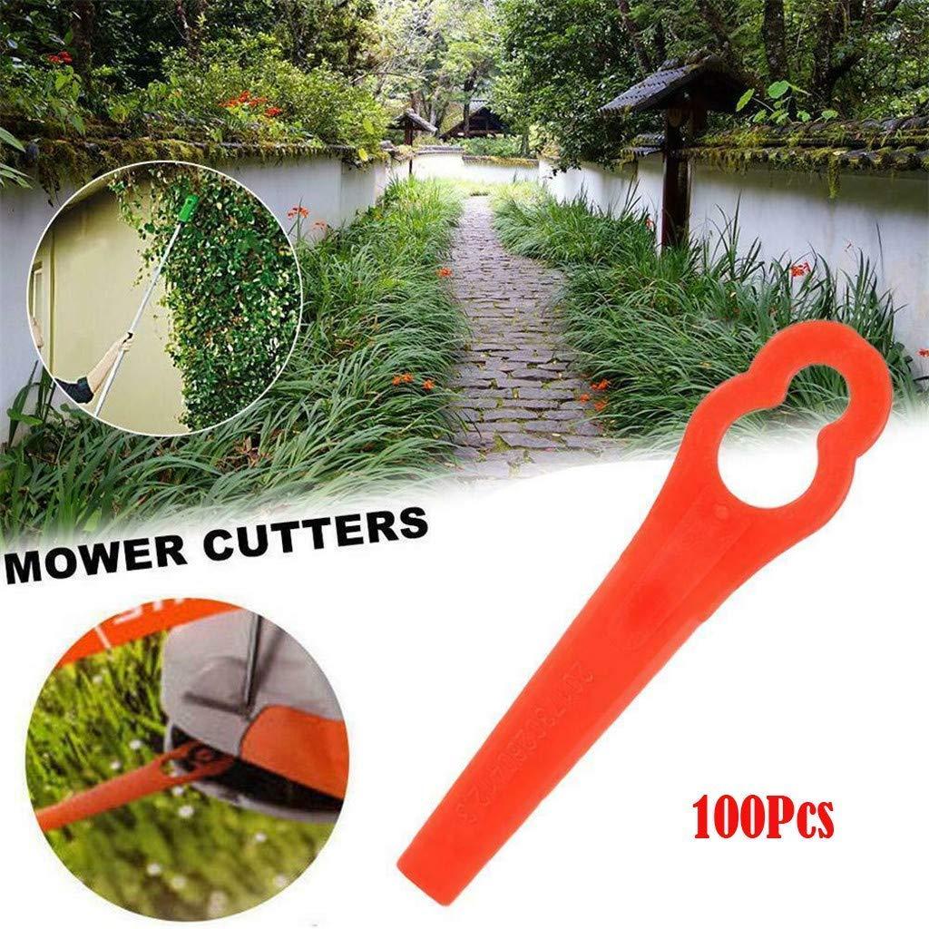 Chuancheng 16/24/50/80/100Pcs Plastic Cutter for Stihl PolyCut 2-2 Garden Lawn Mower Trimmer Blades 4008 007 1000 Grass Cutter Replacement Tool (100) by Chuancheng