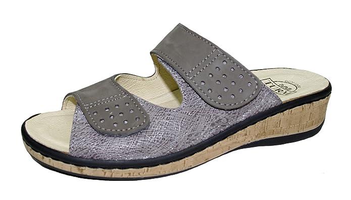 36-42 TURM-Schuh Fußbett-Damenpantolette lose Einlage SONDERPREIS; Gr