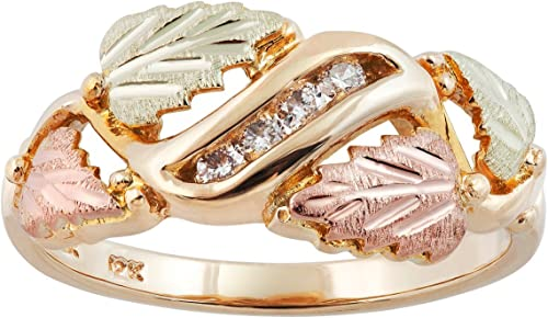 Black Hills Gold rose ring womens whole//half sizes 5 6 7 8 9 on 10k yellow gold