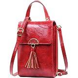 REETEE Bandolera Pequeña Mujer Cuero PU Cartera Bolso de Teléfono Móvil para Mujer, Mini Crossbody Bag Bolso Movil Mujer…