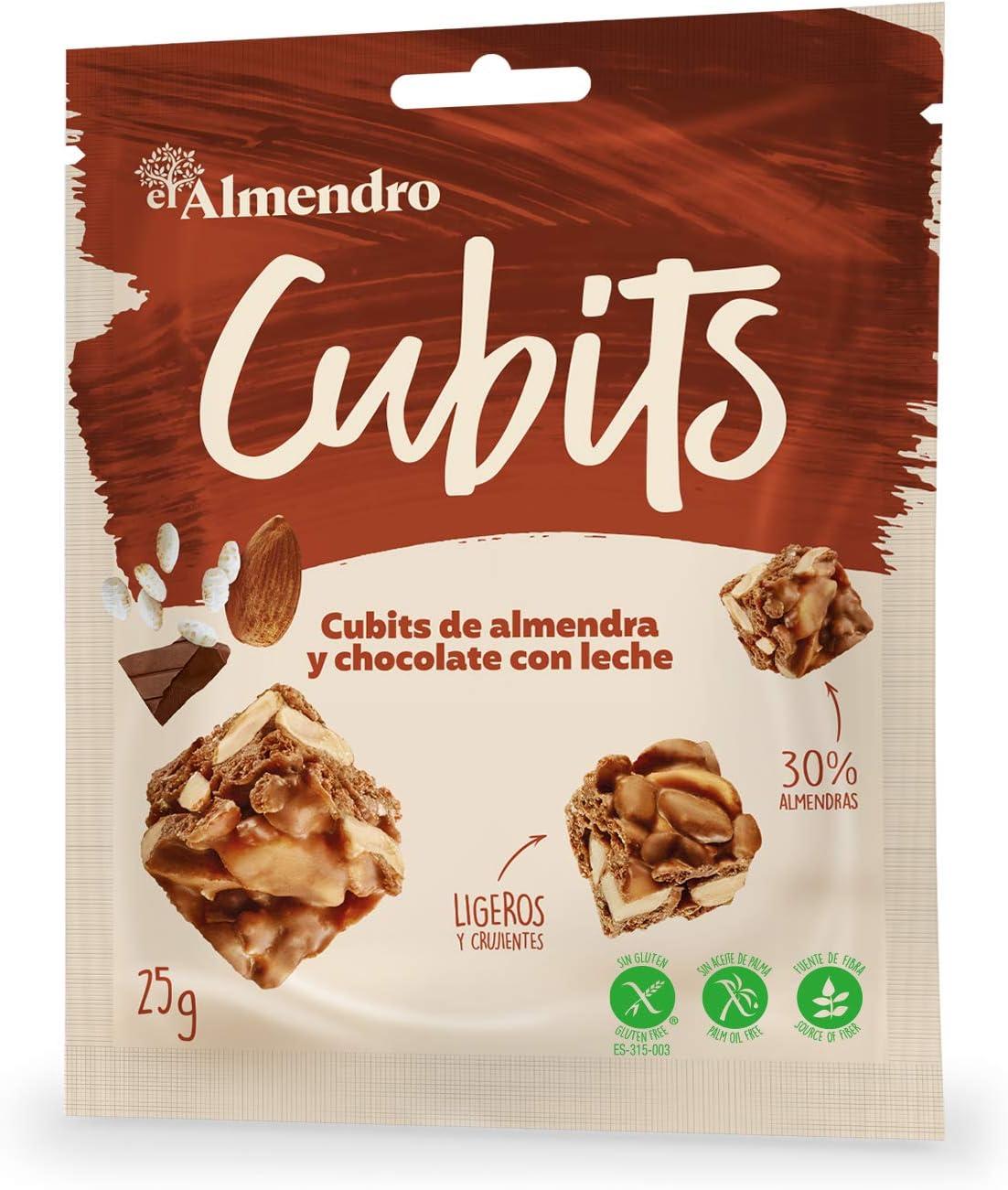 El Almendro - Cubits de Almendra y Chocolate con Leche 25 gr ...