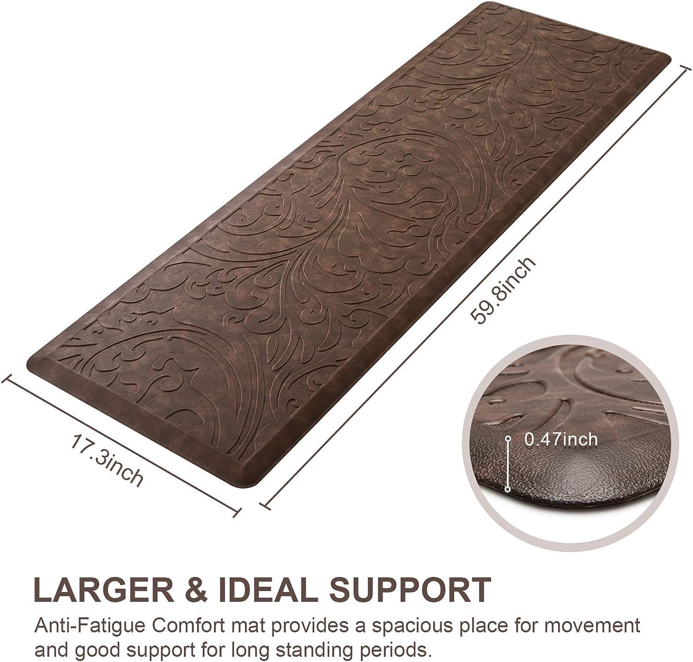 KMAT Kitchen Mat Cushioned Anti-Fatigue Floor Mat Waterproof Non-Slip Standing W