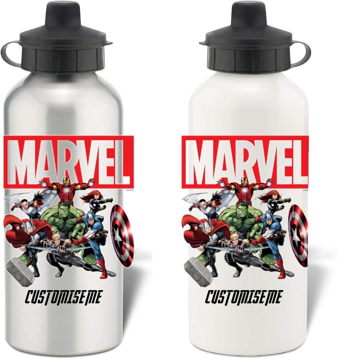Botella de Agua de Aluminio, diseño de Los Vengadores de Marvel