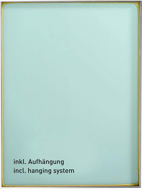 50 x 70 cm Struktur Silber Matt Specchio da Parete Star nielsen HOME