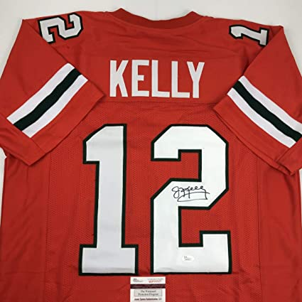 Autographed/Signed Jim Kelly Miami Orange College Football Jersey ...