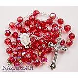 Amazon Price History for:New Catholic Rosary Red Crystal Beads Necklace Holy Mary & Crucifix Jerusalem