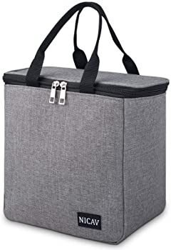 Nicav Insulated Water Resistant Lunch Bag