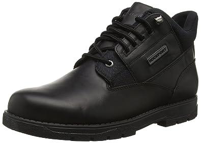 Treeline Hike Plain Toe Boot, Bottes Classiques Homme - Noir - Noir, 40.5 EU (7 UK)Rockport
