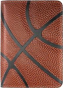 ALAZA Retro Basketball Print Travel Passport Covers Holder Microfiber Leather Clutch Purse Handbag Passport Wallet