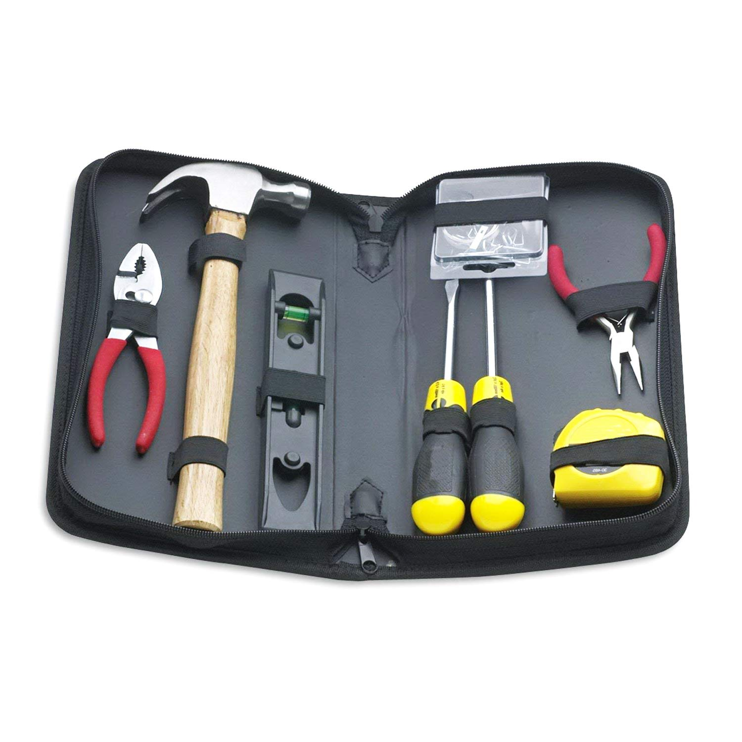 Tool Kit. Best Portable Big Basic Starter Professional Household DIY Hand Mixed Repair Set W/Storage Case For Home, Garage, Office For Men&Women. Includes Screwdriver, Hammer, Pliers, Etc.