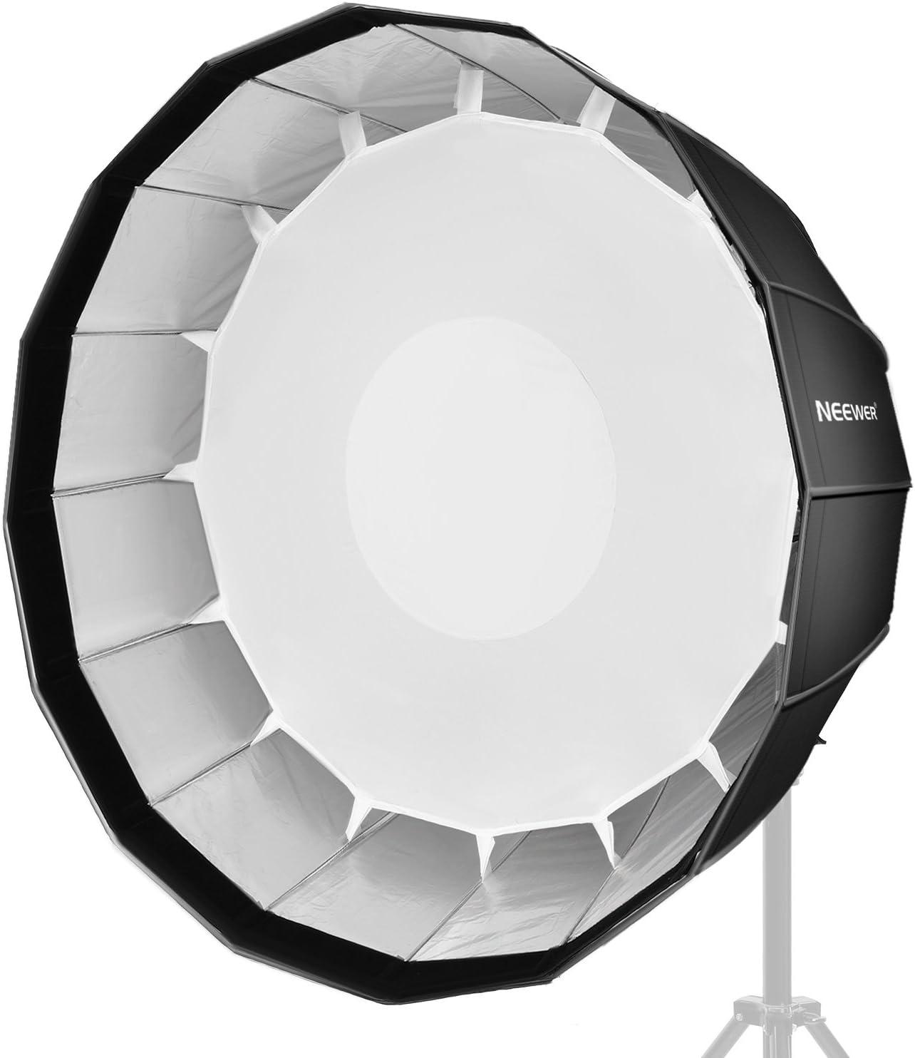 Portrait und Produktfotografie Schnell zusammenklappbar mit Bowens Speedring und Diffusor f/ür Speedlite Studio Flash Monolicht Neewer 90 Zentimeter Tief Sechzehneck-Softbox