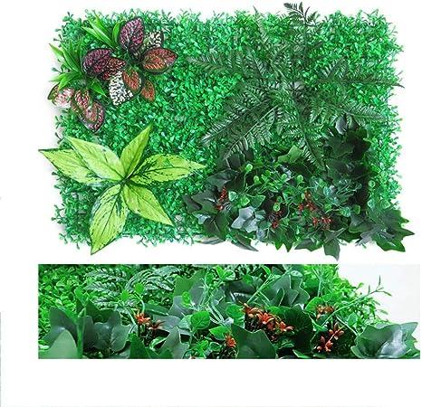 SDYBJH Moderno Falso Artificial Verde Pared Vertical Plantas De Pantalla, Setos Artificiales, Decoración Planta De Fondo De La Pared para Jardines, Balcón Y Terrazas, 40 X 60 Cm/PC: Amazon.es: Hogar