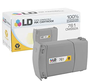 LD Remanufactured Ink Cartridge Replacement for HP 761 CM992A (Yellow)