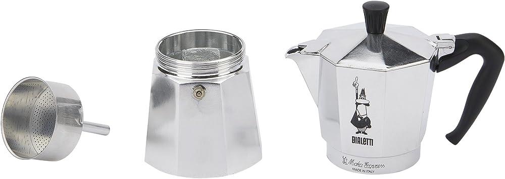 Amazon.com: Bialetti - Cafetera espresso, Plateado: Kitchen ...