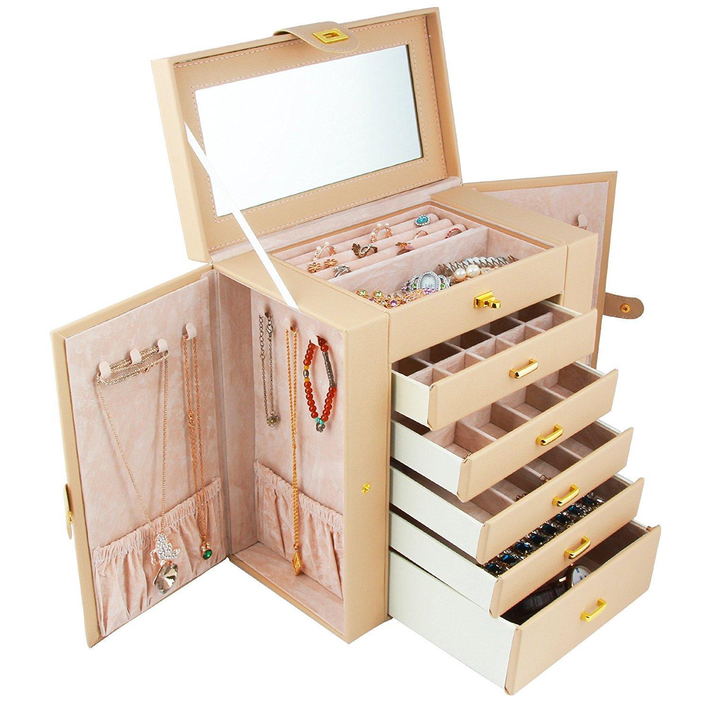 Kendal Huge Leather Jewelry Box / Case / Storage Shining Image