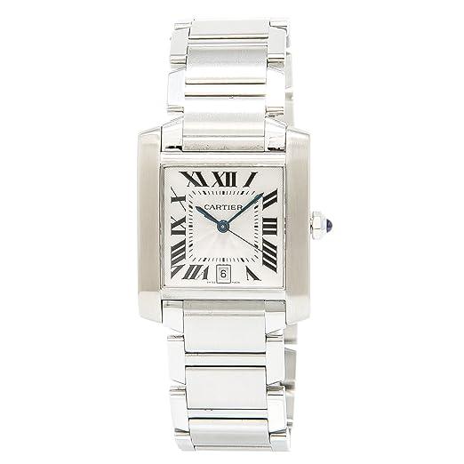 Cartier Tank Francaise Automatic-Self-Wind Mens Reloj 2302 (Certificado) de Segunda Mano: Cartier: Amazon.es: Relojes