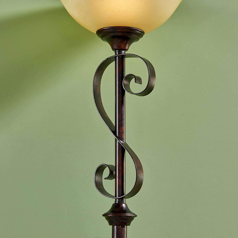 Lampenwelt Led Stehlampe Svera Landhaus Vintage Rustikal In