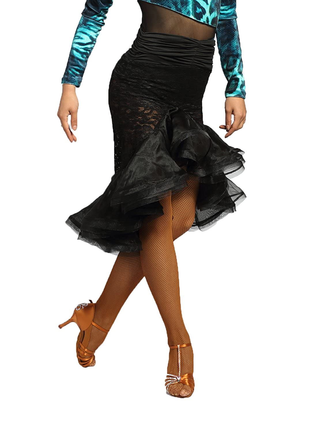 bc60244408144 Style------ fishtail designed  high waist  irregular skirt design  net and  mesh and yarn connected  waist folding ...