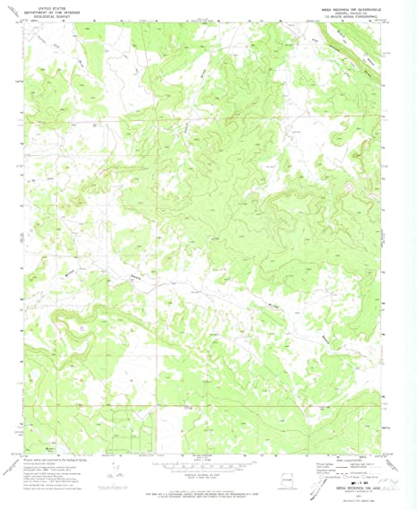 Amazon.com : YellowMaps Mesa Redonda NW AZ topo map, 1:24000 ...