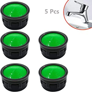 LiXiongBao 5 Pack Faucet Aerator Replacement Parts Flow Restrictor Insert Replacement Faucet Aerators for Bathroom,Kitchen,Laundry